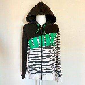 Vintage Puma Zebra Print Old School Hoodie Sweater